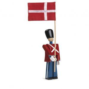 Garder med fane - Træfigur tegnet af Kay Bojesen - Juhls Bolighus