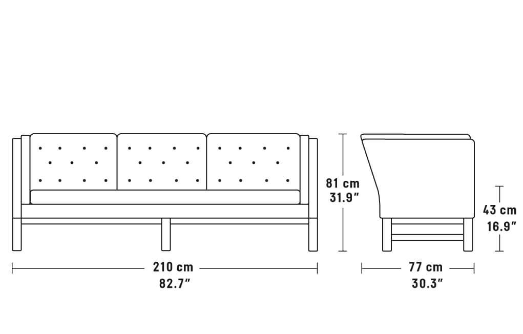 EJ315 Sofa – 3 personers