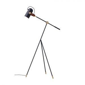 Carronade Lav gulvlampe - Sort - Le Klint