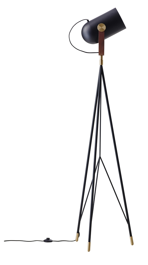 Carronade High gulvlampe - Sort - Le Klint