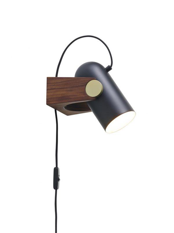 Carronade Bord-Væg Lampe - Sort - Le Klint
