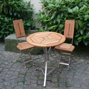Cappuccino klapstol og bord