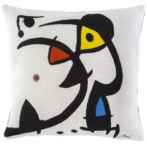 Poulin Design - Miro - Deux personnages hantés par un oiseau - Pude 45x45