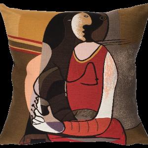 Poulin Design - Picasso - Femme Assise - Pude 45x45 cm