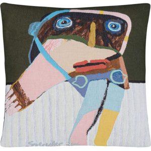 Poulin Design - Leif Sylvester - Kvindelig hovedperson med bange anelser - Pude 45x45