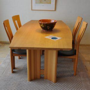 Spisebord med 4 stole - Seltz - Udstillingsmodel
