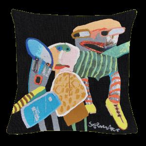 Poulin Design - Leif Sylvester - De gule sko - Pude 45x45