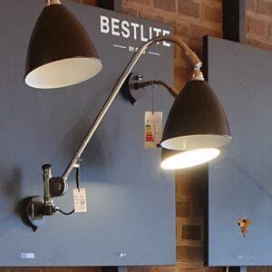 BL6 Væglampe Ø16 krom/sort - Gubi - Udstillingsmodel