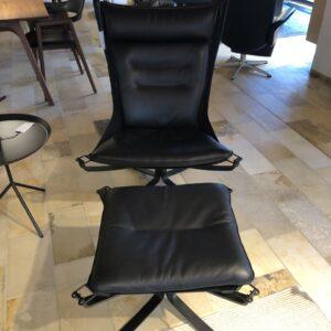Falcon høj lænestol m. skammel - Vatne - Udstillingsmodel